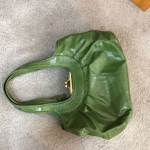 Coach Bags - 💕 Coach bright green xl satchel and wallet bundle